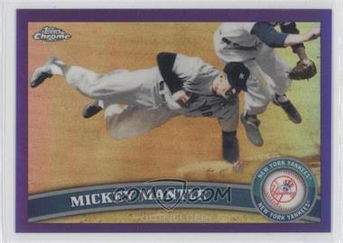 2011 Topps Chrome - [Base] - Retail Purple Refractor #7 - Mickey Mantle /499