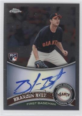 2011 Topps Chrome - [Base] - Rookie Autographs [Autographed] #172 - Brandon Belt