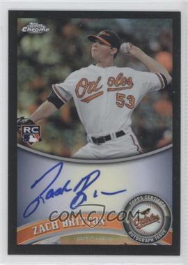 2011 Topps Chrome - [Base] - Rookie Autographs Black Refractor [Autographed] #216 - Zach Britton /100