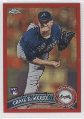 2011 Topps Chrome Red Refractor #195 - Craig Kimbrel /25