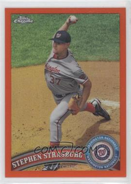 2011 Topps Chrome Retail Orange Refractor #120 - Stephen Strasburg