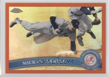 2011 Topps Chrome Retail Orange Refractor #7 - Mickey Mantle