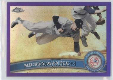 2011 Topps Chrome Retail Purple Refractor #7 - Mickey Mantle /499