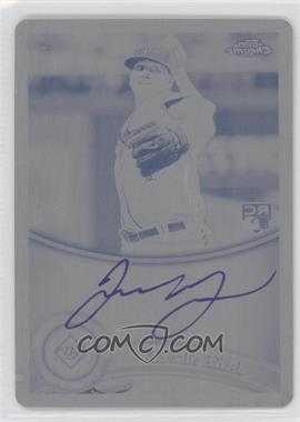 2011 Topps Chrome Rookie Autographs Printing Plate Black [Autographed] #181 - Jake McGee /1