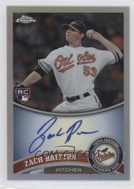 2011 Topps Chrome Rookie Autographs Refractor [Autographed] #216 - Zach Britton /499