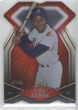 2011 Topps Diamond Dig Contest Diamond Die Cut Black Diamond #DDC-8 - Hank Aaron /60