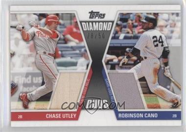 2011 Topps Diamond Duos Dual Memorabilia #DDR-1 - Chase Utley /50