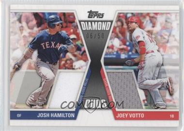 2011 Topps Diamond Duos Dual Memorabilia #DDR-10 - Joey Votto /50