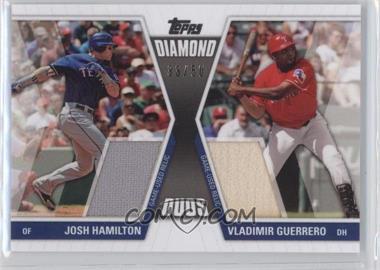 2011 Topps Diamond Duos Dual Relics #DDR-5 - Josh Hamilton, Vladimir Guerrero /50
