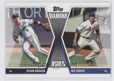 2011 Topps Diamond Duos Series 1 #DD-BD - Ryan Braun, Ike Davis