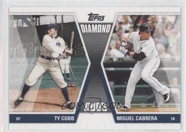 2011 Topps Diamond Duos Series 1 #DD-CC - Miguel Cabrera, Ty Cobb