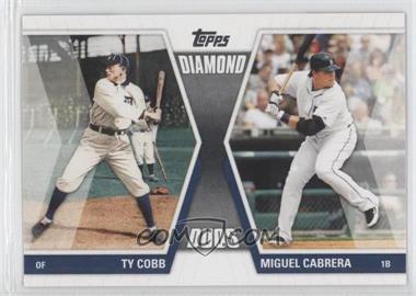 2011 Topps Diamond Duos Series 1 #DD-CC - Miguel Cabrera, Ty Cobb