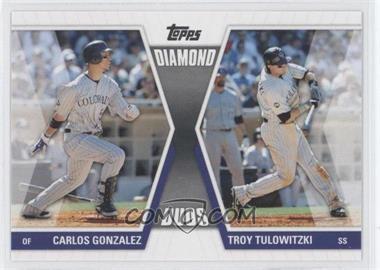 2011 Topps Diamond Duos Series 1 #DD-GT - Carlos Gonzalez, Troy Tulowitzki