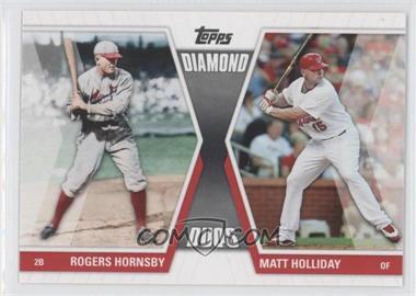 2011 Topps Diamond Duos Series 1 #DD-HHO - Rogers Hornsby, Matt Holliday