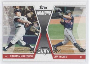 2011 Topps Diamond Duos Series 1 #DD-KT - Harmon Killebrew, Jim Thome
