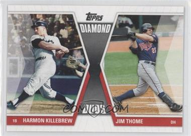 2011 Topps Diamond Duos Series 1 #DD-KT - Harmon Killebrew, Jim Thome