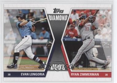2011 Topps Diamond Duos Series 1 #DD-LZ - Evan Longoria, Ryan Zimmerman