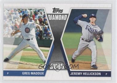 2011 Topps Diamond Duos Series 1 #DD-MH - Greg Maddux, Jeremy Hellickson