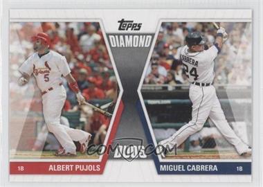 2011 Topps Diamond Duos Series 1 #DD-PC - Albert Pujols, Miguel Cabrera