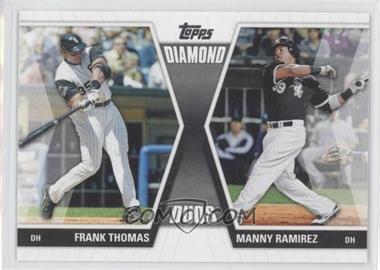 2011 Topps Diamond Duos Series 1 #DD-TR - Frank Thomas, Manny Ramirez
