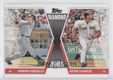 2011 Topps Diamond Duos Series 2 #DD-10 - Adrian Gonzalez, Kevin Youkilis