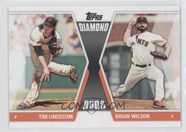 2011 Topps Diamond Duos Series 2 #DD-15 - Tim Lincecum, Brian Wilson