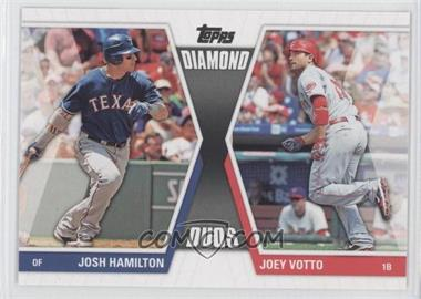2011 Topps Diamond Duos Series 2 #DD-16 - Joey Votto, Josh Hamilton