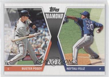 2011 Topps Diamond Duos Series 2 #DD-17 - Buster Posey, Neftali Feliz