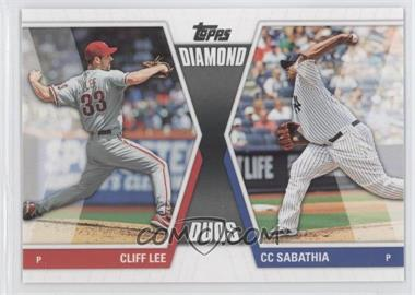 2011 Topps Diamond Duos Series 2 #DD-23 - Cliff Lee, CC Sabathia