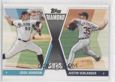 2011 Topps Diamond Duos Series 2 #DD-27 - Josh Johnson, Justin Verlander