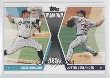2011 Topps Diamond Duos Series 2 #DD-27 - Josh Johnson, Justin Verlander