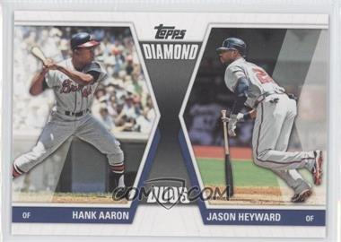 2011 Topps Diamond Duos Series 2 #DD-29 - Hank Aaron, Jason Heyward