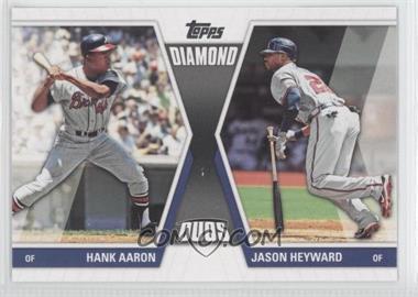 2011 Topps Diamond Duos Series 2 #DD-29 - Hank Aaron, Jason Heyward
