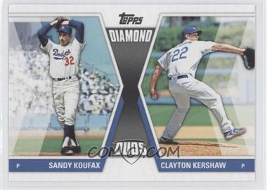 2011 Topps Diamond Duos Series 2 #DD-30 - Sandy Koufax, Clayton Kershaw