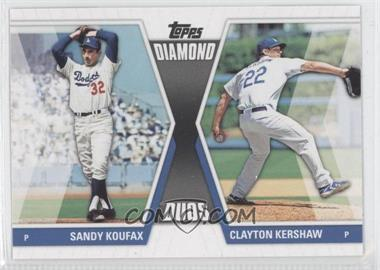 2011 Topps Diamond Duos Series 2 #DD-30 - Sandy Koufax, Clayton Kershaw