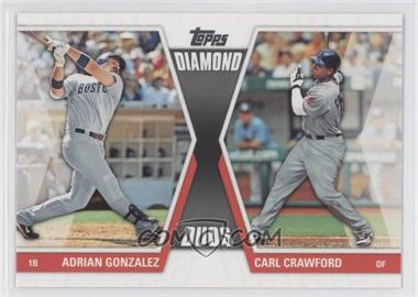 2011 Topps Diamond Duos Series 2 #DD-4 - Adrian Gonzalez, Carl Crawford