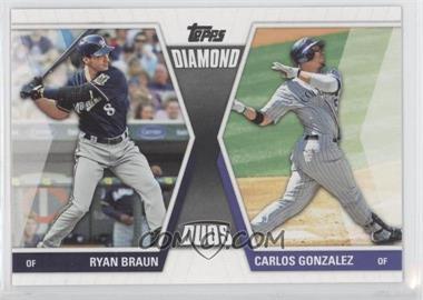 2011 Topps Diamond Duos Series 2 #DD-6 - Ryan Braun, Carlos Gonzalez