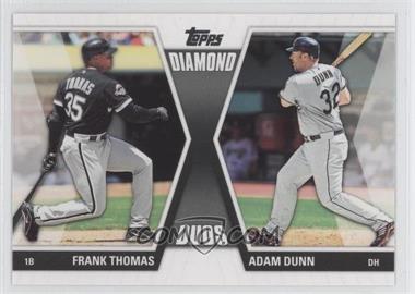 2011 Topps Diamond Duos Series 2 #DD-7 - Frank Thomas, Adam Dunn