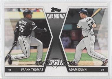 2011 Topps Diamond Duos Series 2 #DD-7 - Frank Thomas, Adam Dunn