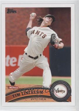 2011 Topps Emerald Nuts San Francisco Giants - [Base] #SFG1 - Tim Lincecum