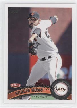 2011 Topps Emerald Nuts San Francisco Giants - [Base] #SFG9 - Sergio Romo