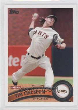 2011 Topps Emerald Nuts San Francisco Giants #SFG1 - Tim Lincecum