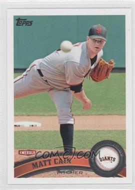 2011 Topps Emerald Nuts San Francisco Giants #SFG3 - Matt Cain
