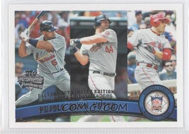 2011 Topps Factory Set Diamond Anniversary #318 - Albert Pujols, Adam Dunn, Joey Votto