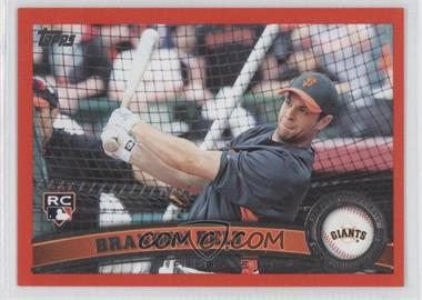 2011 Topps Factory Set Red #605 - Brandon Belt /245