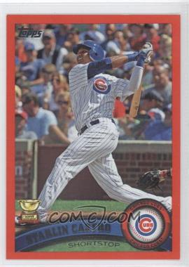 2011 Topps Factory Set Red #655 - Starlin Castro /245