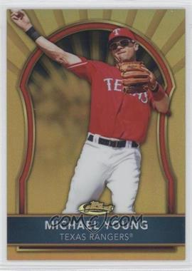 2011 Topps Finest - [Base] - Gold Refractor #19 - Michael Young /50