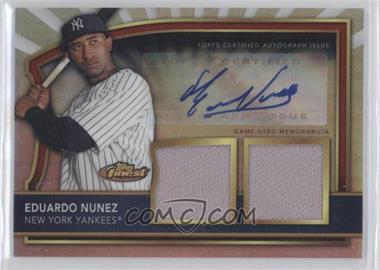 2011 Topps Finest - [Base] - Refractor Rookie Autographed Dual Relics [Autographed] #62 - Eduardo Nunez /499