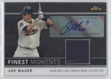 2011 Topps Finest Finest Moments Autograph Relics [Autographed] #FMA1 - Joe Mauer /274