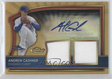 2011 Topps Finest Gold Refractor Rookie Autographed Dual Relics [Autographed] #87 - Andrew Cashner /69